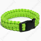 Green PARACORD WRISTBAND Survival Camping Hiking Cord Bracelet - All Sizes