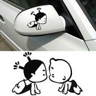 Lovely 3D Car sticker Child Design Decoration Sticker For Side Mirror Rearview