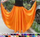 "Womens Girls 100% Pure Silk Full Circle Long Maxi Skirt 31""/80cm Length AF683"