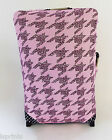 DOGTOOTH PINK LEOPARD PRINT DESIGN SUITCASE COVER EASILY IDENTIFY YOUR CASE