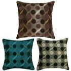 """Thick Chenille Retro Circle Design Filled Cushions or Cushion Covers 17"""" / 43cm"""