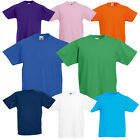 CLEARANCE S7 - SS031 Fruit of The Loom Kids Childrens School Plain T-Shirt Top