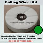 Hard Metal Final Polishing Kit  - Loose Leaf Buffing Wheel, Pigtail & Green Bar
