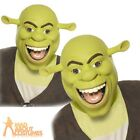 Adult Licensed Shrek Mask Ogre Latex Full Head Fancy Dress Costume Accessory New