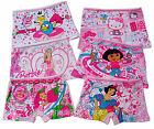 Lots Cute Cartoon Cotton Boxers Briefs Underwear Underpant for Girls Kid Age 3-9