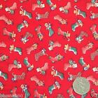 Red cute christmas stocking Fabric 100 % cotton  per 1/2 mtr or FQ Rose & Hubble
