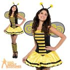 Bumble Bee Beauty Costume Adult Insect Fancy Dress Ladies Womens Sexy Outfit