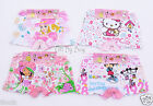 10PCS Cute Cotton Boxer Briefs Underwear Boyshorts for Girls Kids Age 3T-9T