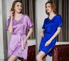 Women's 100% Silk Chemise Babydoll Full Slips Sleepwear 16 Momme Charmeuse AS306