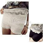 2015 NEW HOT Full Lace Cotton Blend Embellish Safety Pants Three Layer Shorts