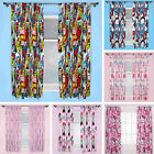 Childrens Character Themed Curtains Cartoon Super Heroes Marvel Spiderman Thomas