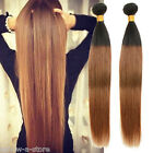 """New Fashion Human Hair Extension 6A Sliky Straight 12""""-30"""" Ombre Hair Wefts"""