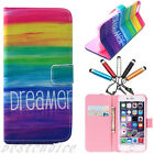 Vintage Painted Flip Wallet Leather Case Cover Stand For iPhone 5/5S/ 6/ 6 Plus