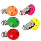 5/25pcs New Mixed Color Patterns Wood Baby Pacifier Clips Metal Holders 3 Hole D