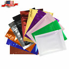 Variety of Colors for 100 PCS Shiny Metallic Mylar Zip Lock Bags