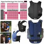 EQUESTRIAN RIDERS SAFETY JUMPING RACING BREATHABLE PROTECTOR ALL COLOURS & SIZES