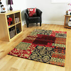 Small Large Pink Patchwork Rugs New Funky Soft Easy Clean Modern Living Room Mat