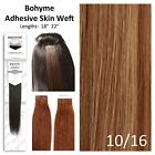 Bohyme Tape-In Skin Weft 100% Remi Human Hair Extensions Color 10/16
