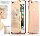 Luxury Aluminum Metal Bumper Clear Back Case Cover SKin for iPhone 6 & Plus 5/5s
