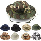 Cotton Sun Hunting Fishing Camping Outdoor Boonie Cap Bucket Wide Brim Hat