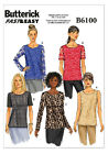 Butterick 6100 Fast & Easy to Make Tunic T-shirt Top Sewing Pattern B6100 5in1