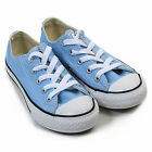 Converse Junior Seasonal Ox Canvas Lace Up Trainer Blue Sky