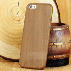 Retro Wood Style Wooden Bamboo Soft  back Case Cover Skin for iPhone 5s/6/6 Plus