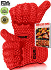 2 Barbecue Heat Resistant Silicone Gloves & Oven Kitchen Grill Bbq Cooking Mitts