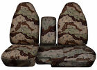 1983-2015 Ford Ranger 60 /40 Camouflage Seat Covers Choose color