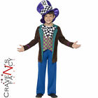 Kids Deluxe Mad Hatter Costume Child Book Day Boys Fancy Dress Fairytale Outfit