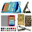 Folio PU Leather Cover Stand Case For AT&T Trek HD 8 inch 4G LTE Android Tablet
