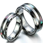 Tungsten Carbide Women /Men Wedding Engagement Ring Band Set Never Tarnish SR110