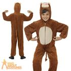 Child Plush Monkey Costume Jumpsuit Book Week Day Fancy Dress Outfit Kids