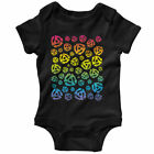 45 45s Color Gradient One Piece - DJ Reggae Baby Infant Creeper Romper NB to 24M