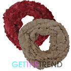 Womens Soft Furry Snood Ladies Double Wrap Cowel Cowl Winter Snood Scarf
