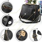 Fashion Women Ladies PU Leather Handbag Vintage Shoulder Bags With Crown Print