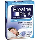 ツ BEST PRICE! BREATHE RIGHT NASAL STRIPS CLEAR LARGE REGULAR CHOOSE SIZE