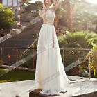 Sexy Long Chiffon Lace Bridesmaid Backless Formal Evening Party Cocktail Dress