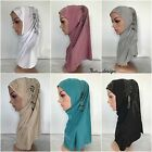 Muslim Women 1 piece Al Amira Hijab with Handmade Beading and Rhinestones #3