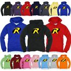Superhero Batman & Robin Light Cotton Hooded Long sleeve tshirt Hoodie Hoody Top