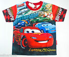 Disney McQueen Cars Boys Kids T Shirt Size L Age 6-8 #16 New Gift FREE SHIP