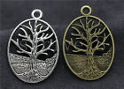 Lot 5/20/100pcs Antique Silver Beautiful tree Charms Pendant Craft DIY 35X24mm