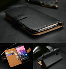 Luxury Genuine Leather Wallet Stand Flip Card Case Cover Protector Skin For LG
