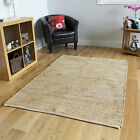 New Beige Natural Fibre Modern Rug Easy Clean Hand Woven Durable Flatweave Rugs