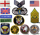 Military Badges Army Patches Iron On Patch Us Air Force Rank Biker Jacket Patch