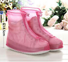 PVC Rain Shoes Waterproof Boot Cover Non-slip Shoe Covers Women Overshoes proof