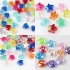 Stylish 50/100 Pcs Clear Acrylic Heart/Flower/Star Shaped Spacer Beads DIY Gift