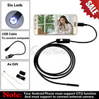 Endoscope 6 White LEDs 1M Waterproof Tube Inspection Camera Mini Android Φ7mm