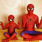 Boys Halloween Red Blue Spider-Man Suit Home Men Cosplay Costumes Siamese Tights