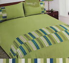 Green King Duvet Cover Set Bedding 2 Pillowcases Washable